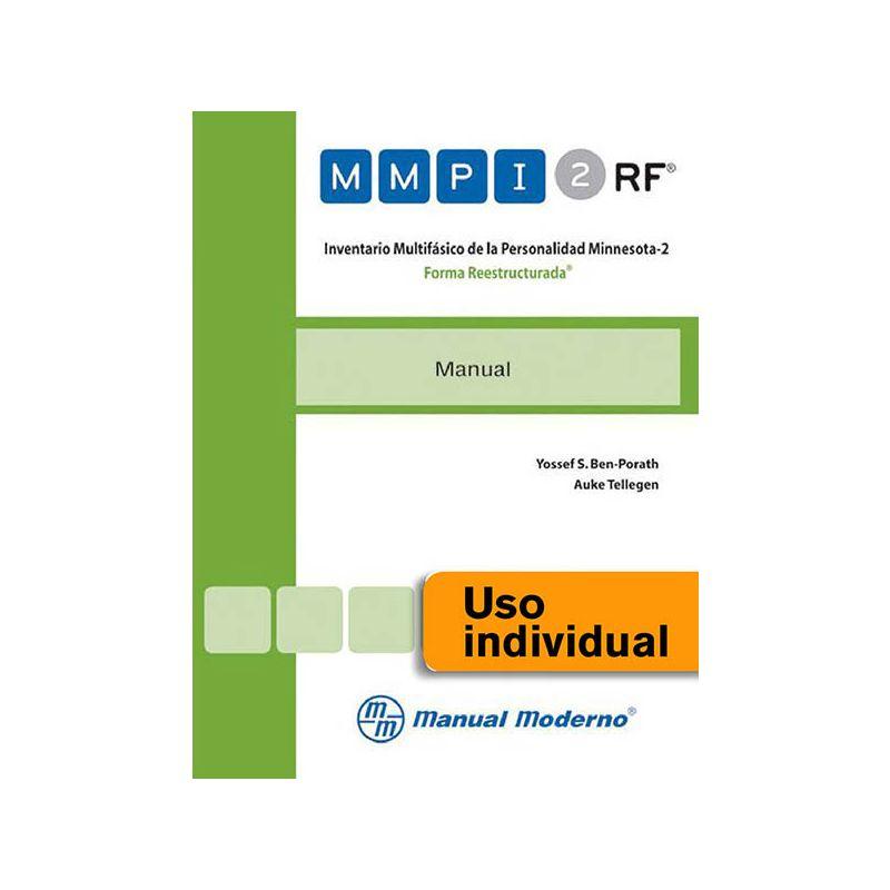 Tarjeta Uso Individual / Inventario Multifásico de la Personalidad Minnesota-2. Forma Reestructurada®
