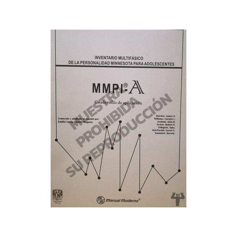 Cuadernillo de aplicación Paq. 10 - Inventario Multifásico de la personalidad Minnesota® para adolescentes