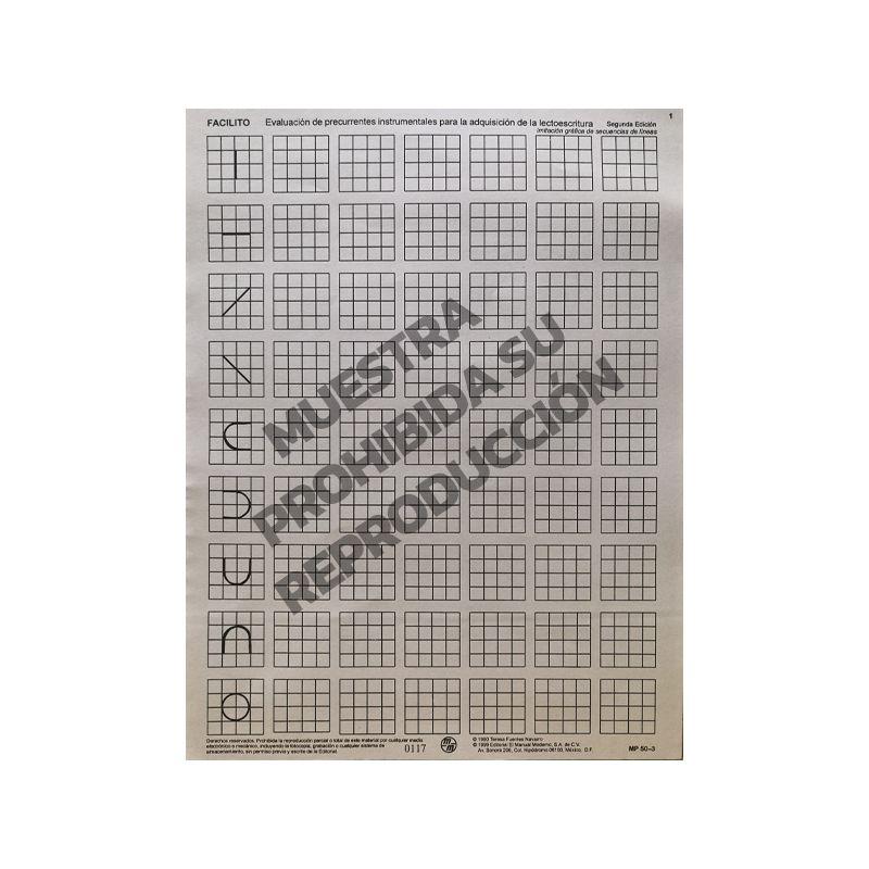 Hoja de respuesta 1 y 2 Paq. 15 FACILITO- Evaluación de precurrentes instrumentales para la adquisición de la lectoescritura