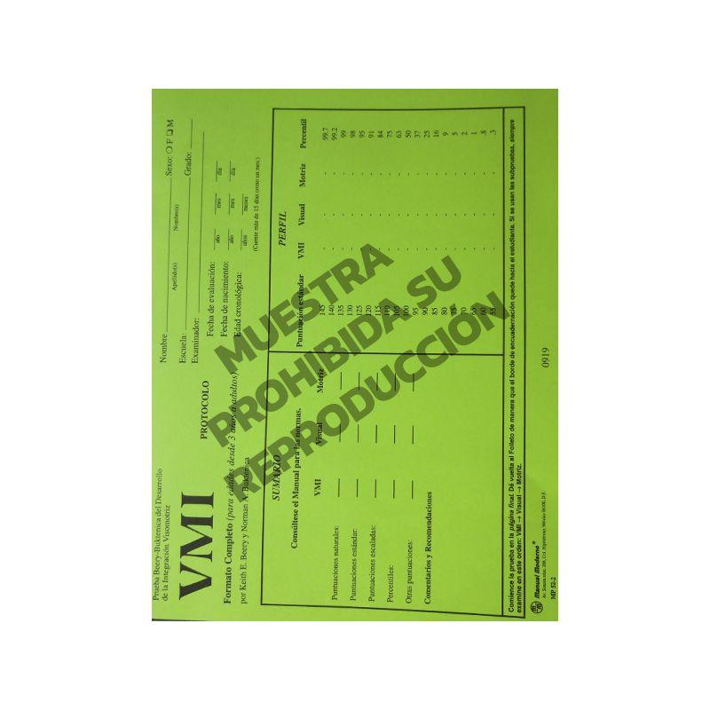 Protocolos forma completa Paq. 15  - Prueba Beery - Buktenica