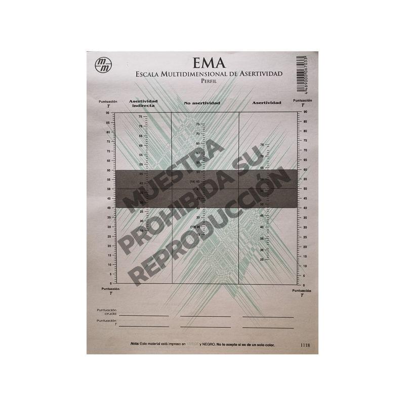 Hoja de respuesta y perfil Paq. 15 - Escala multidimensional de asertividad EMA