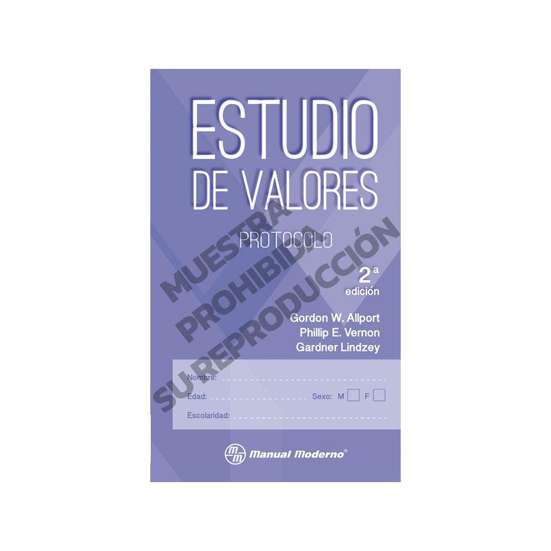 Protocolo Paquete de 5 - Estudio de valores